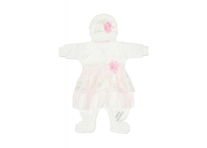 Купить Комплект на выписку для девочки «Белоснежка» (розовый) в интернет магазине